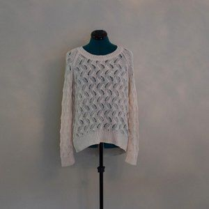 Oak and Fort Cream Knit Sweater Sz S/M